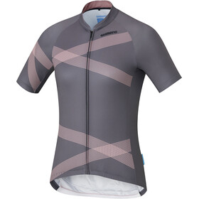 Shimano Team - Maillot manches courtes Femme - gris/rose